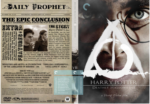 This is freakin' fantastic. Check out all of pottercriterion's Harry Potter Criterion covers. I wish these existed.