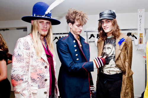 Backstage at John Galliano