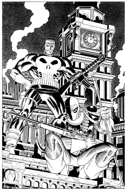 Mike Zeck's Black and White Artwork, Who Needs Color?