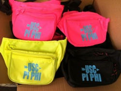 Neon @uscpiphi Fanny Packs are in!!