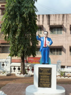 Thought this statue (not sure of whom) was kind of cute/funny. Goa, India.
