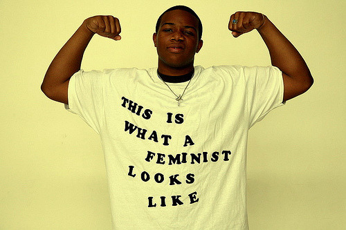 newwavefeminism:  safercampus:  this is what a feminist looks like  I love it