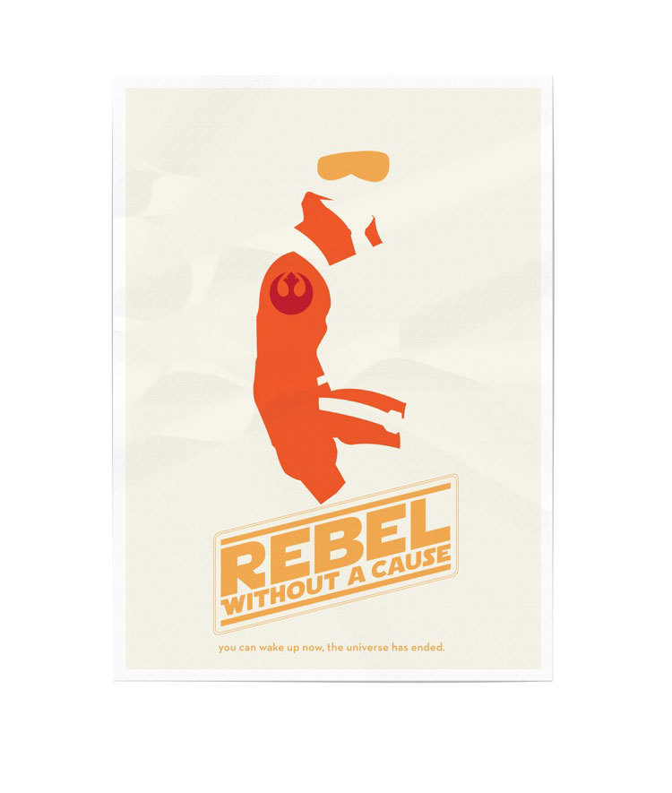 Cartel | Star Wars | Rebelde Sin Causa | Reblogged From >  smooth:  Design You Trust – Social Inspirations!