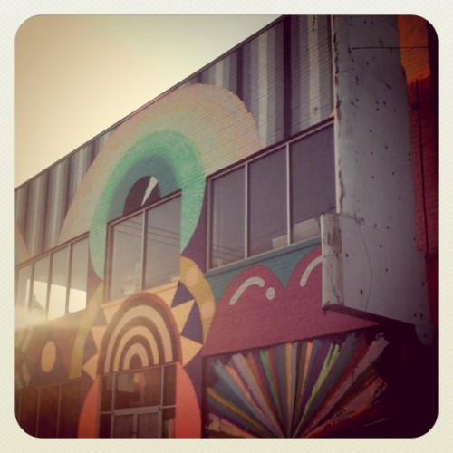Wayne Coyne's Womb art space on 9th Street, newly painted, downtown Oklahoma City, OK (Taken by 50mmcaroline with instagram)