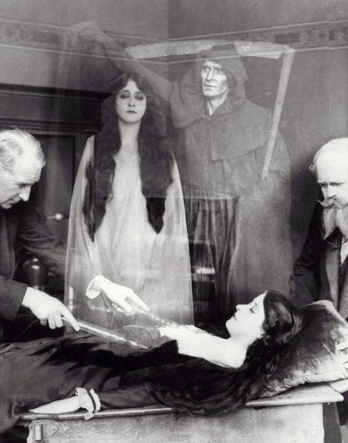 "Clara Kimball Young in Lola (1914, dir. James Young) In the film, sweet & virtuous Lola is killed in a car accident. She is restored to life, by means of her scientist father's electric ray machine, but too late to prevent Death from carrying off her soul. The now soulless Lola promptly turns into an amoral jezebel who enjoys anonymous beach sex and making men cry with statements like, ""When a man says to me, 'I want the only things you have - your beauty, your youth, your love,' haven't I the right to say, 'What will you give me for them?'""  Order is restored when ""too much excitement"" (i.e. too many adulterous orgasms) fatally weakens her heart, and her heartbroken father, having learned his lesson, lets her go."