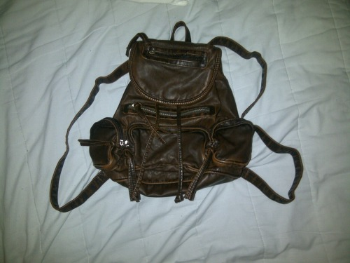 my euro backpack ! i love buying from little shops that no one knows about,