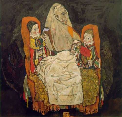 Mother with Two Children (1917) by Egon Schiele