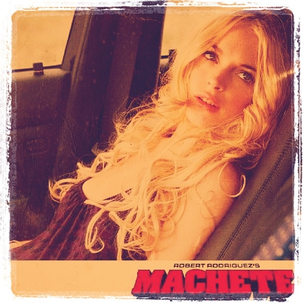 "Saw Lindsay Lohan in ""Machete"" today. I thought it wasn't gonna be a great movie, but it was actually pretty dope."