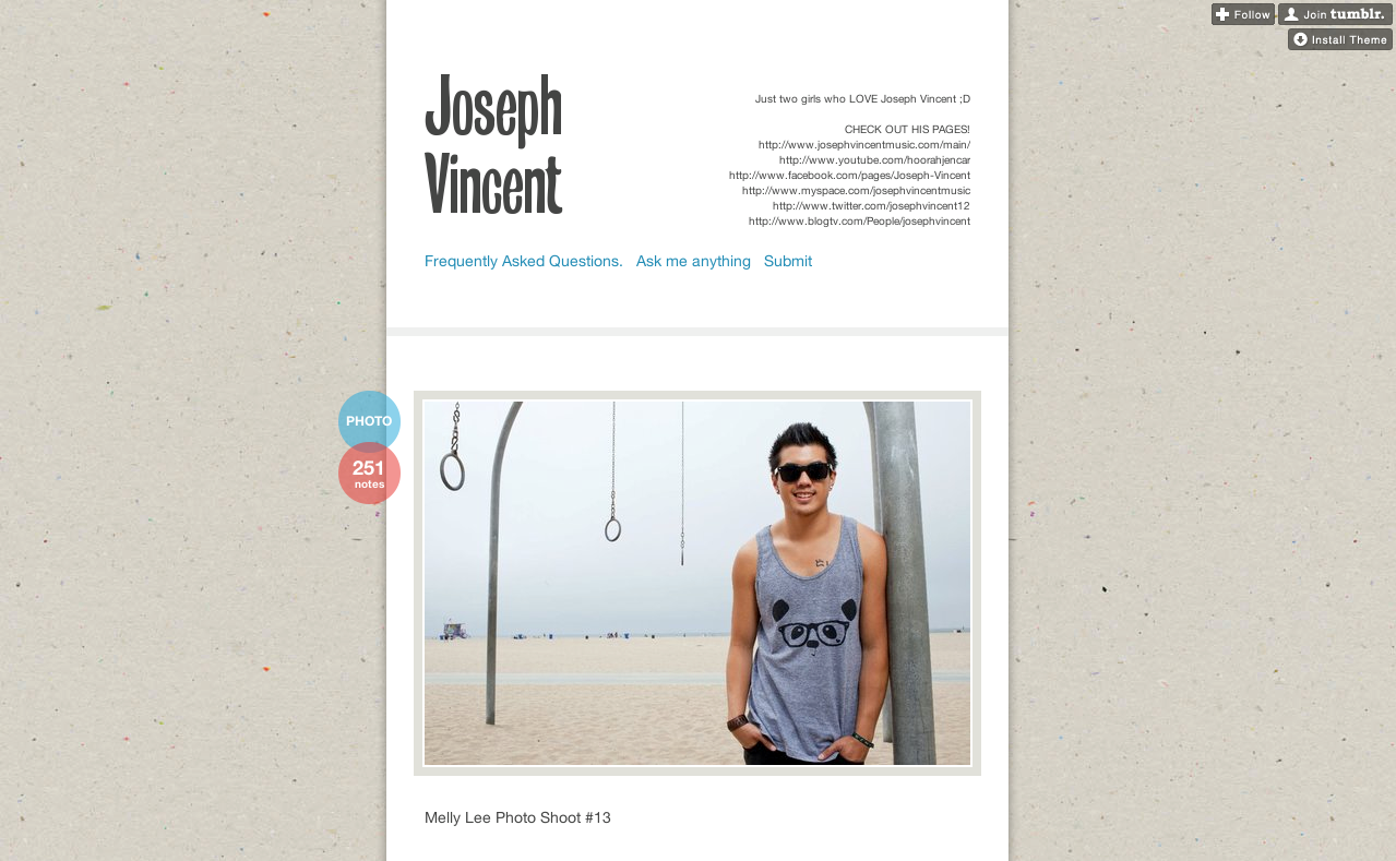 I spy @MELLYLEE_ on http://fckyeahjosephvincent.tumblr.com/