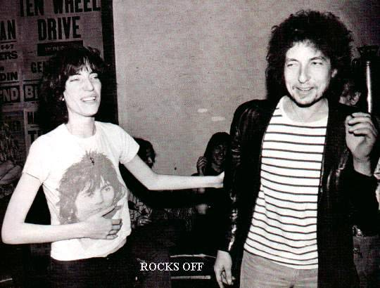 PATTI SMITH wearing a KEITH RICHARDS T-shirt and BOB DYLAN (Via awesomepeoplehangingouttogether)