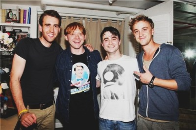 17teapots:  t0ws:  violet-blossoms:  a vintage post of the Harry Potter guys. perfect.  this is perfect  Forever reblog.
