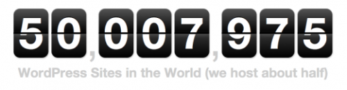 (via The Next Web) WordPress: Now Powering 50 Million Blogs  Each month, there are around 287 million people accounting for 2.5  billion pageviews on WordPress.com blogs, reading posts that are written  in over 120 languages. English accounts for the two-thirds of all  written posts, with Spanish and Portuguese in second and third  respectively.  Read more… Wow, an average of half a million new posts per day; great news for Wordpress, but I do wonder how many of the blogs are active. Extra Credit WordPress Powers 50 Million Blogs, How It Do That?- Brothersoft WordPress Statistics: 50 Million Blogs Now Powered By WordPress- Stat Spotting