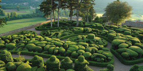 The gardens of Marqueyssac in Dordogne (France)