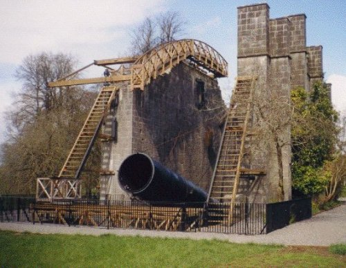 "The ""Leviathan of Parsontown"". This 72"" telescope was built at Birr Castle in Ireleand in 1845 by Lord Rosse. It was the world's largest until 1917."