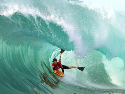 "Extreme Photo of the Week: Bodyboarding at Shark Island, Australia ""I just wanted to get a bomb and was really enjoying the ride,"" says bodyboarder Chase O'Leary of catching this six-foot wave during the Shark Island Challenge, in June 2011, near Sydney, Australia. ""But I didn't read the wave properly, hence why I got smashed into the reef."" Surfing's little brother, bodyboarding is a sport that's growing up. ""There's been a real boom in the younger generation—not just in Australia but around the world,"" says O'Leary, 19, who has been bodyboarding for nine years. ""People see it as a more functional way of riding a wave than surfing. Once you start to get the hang of it, it becomes addictive."" Photograph by Cameron Spencer, Getty Images"