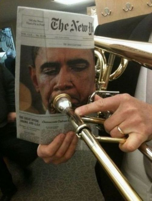 The President's hidden talent? npr  TdoubleB note: But what sound did it make?