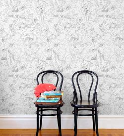 sartorialperfection:  pattern people for hygge & west. this wallpaper + those chairs = heaven.