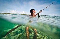Rolando the Spear Fisherman from Olango Island, Cebu.