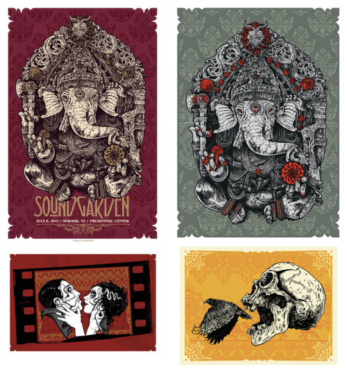 Huge release day at Angryblue.com today. 4 new signed/numbered screenprints. 'Soundgarden', 'Ganesha', 'YouWishYouWereFree' and 'Say Something'.