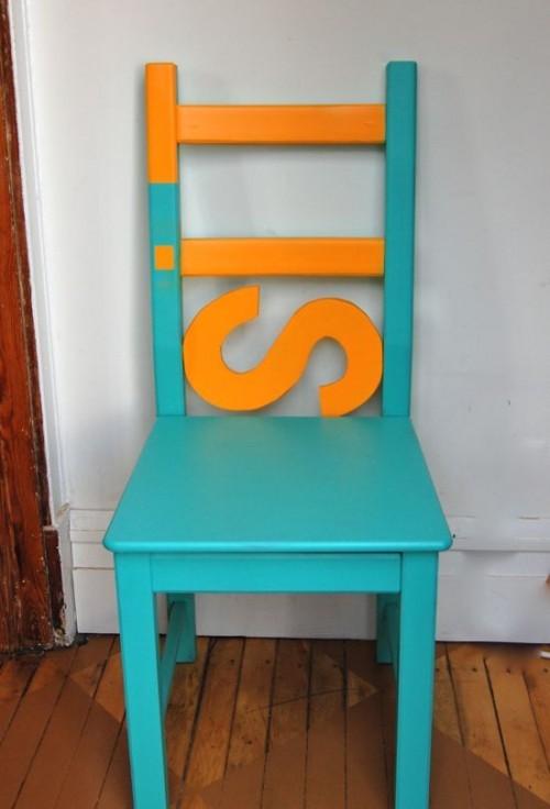 (via Before & After – Cool IKEA Chair Makeover   Shelterness)