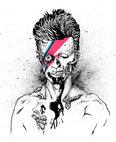 (via Zombowie Art Print by Daryll Peirce | Society6)  zombowie by daryll peirce