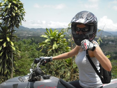 Four wheeling through coffee plantations in Costa Rica!