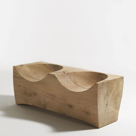 Log2 wooden bench by Riva.