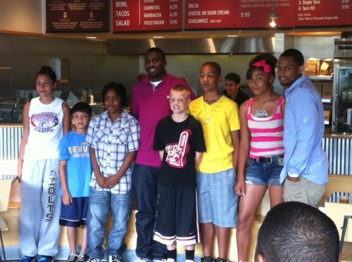 Ty Lawson and ANA Basketball's Nick Graham (far right) w/ the six Ty Lawson Basketball Camp scholarship recipients.