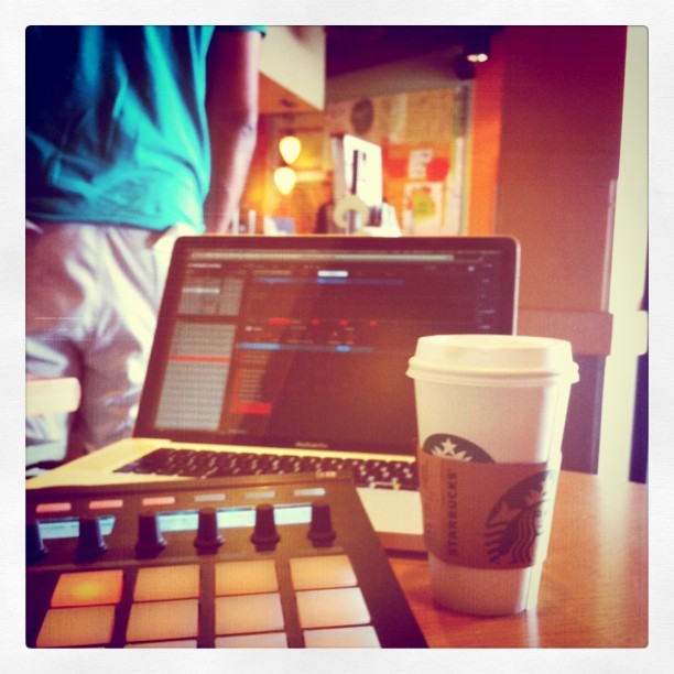 Starbucks writing session… (Taken with instagram)