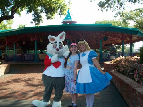 Me with Alice and the White Rabbit at Disney World!