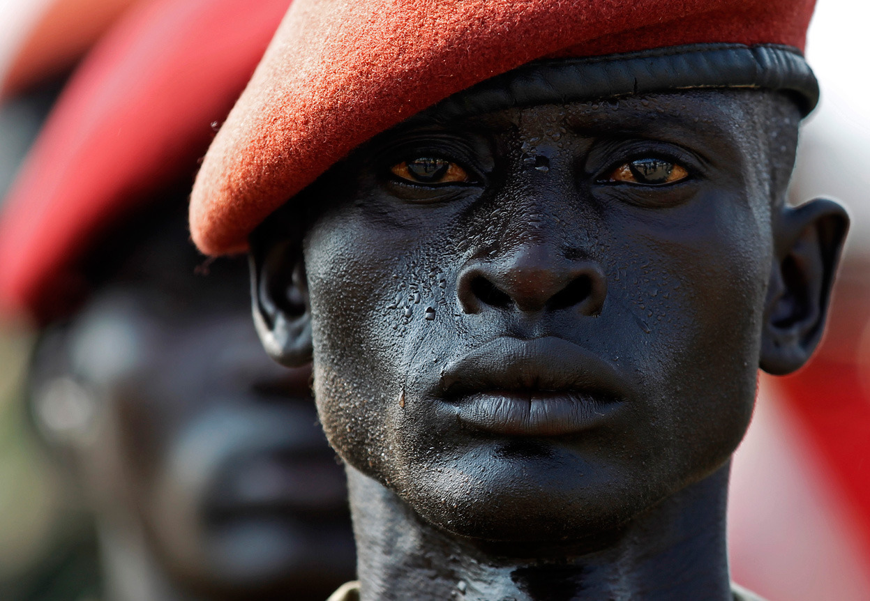 South Sudan: The Newest Nation in the World  Last Saturday, the Republic of South Sudan declared its independence, creating the newest nation in the world — the 193rd nation to join the United Nations. The new country has been in the making since a referendum last January, when nearly 4 million southern Sudanese voted to secede from Sudan by a margin of more than 98 percent. The region has been involved in civil wars for at least the past 50 years, and the days-old nation is already battling several armed groups within its new borders. Many issues still remain unresolved — the oil-rich region continues to rely on pipelines that run through Sudan, and a revenue-sharing agreement has not been reached. The new nation, which is comprised of more than 200 ethnic groups, has a largely rural economy, and poverty, civil warfare, and political instability will be the biggest of many challenges for the new administration. Above: A Sudan People's Liberation Army (SPLA) soldier stands in line during a rehearsal for the Independence Day ceremony in Juba, on July 5, 2011. (Reuters/Goran Tomasevic) See more incredible photos from South Sudan's independence at In Focus
