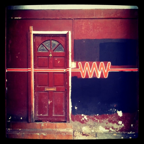 WWW. Cool doorway I found in Lambeth today. Could be a good background for future shoots.