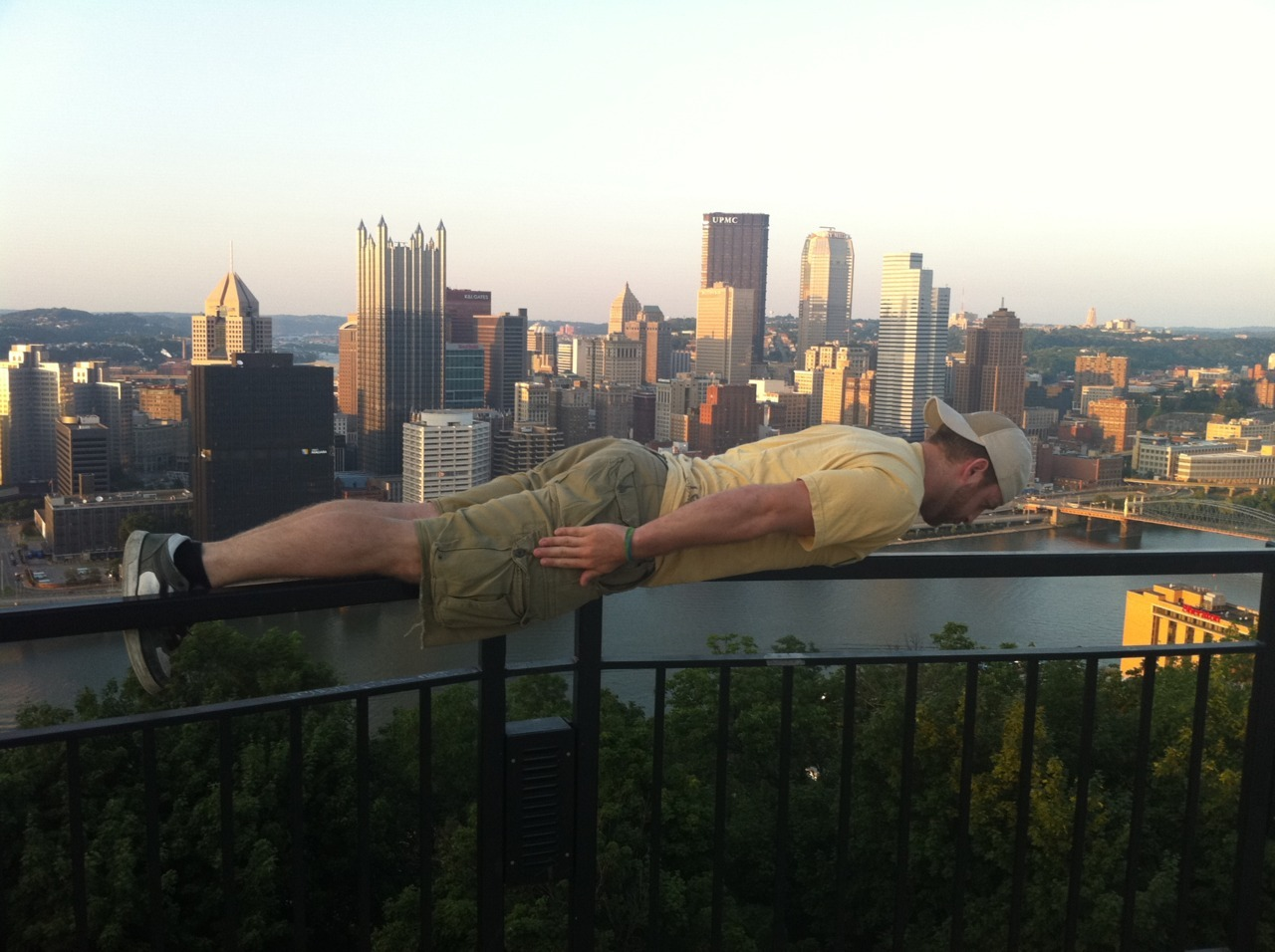 Ryan doing the Overlook Plank on Mt. Washington