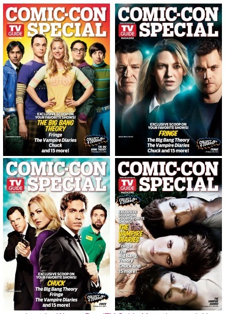 Special Edition TV Guide Magazine Covers for Comic Con 2011 | Warner Bros.