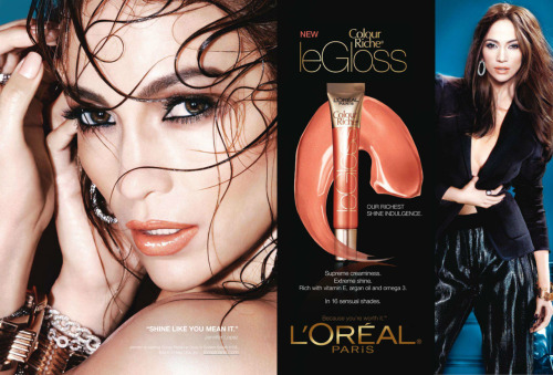 """Shine Like You Mean It."" - Jennifer Lopez for L'Oreal Paris (Colour Riche Collection 2011)"