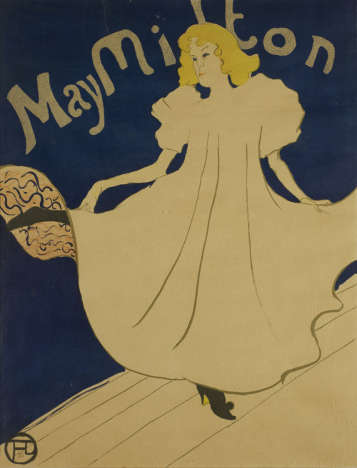 May Milton, 1895 Henri de Toulouse-Lautrec (French) Print, crayon, brush, spatter and transferred screen lithograph, printed in five colours, 80.3 x 61.5 cm Gift of the Donald R. Muller/Ross R. Scott Collection, 2010