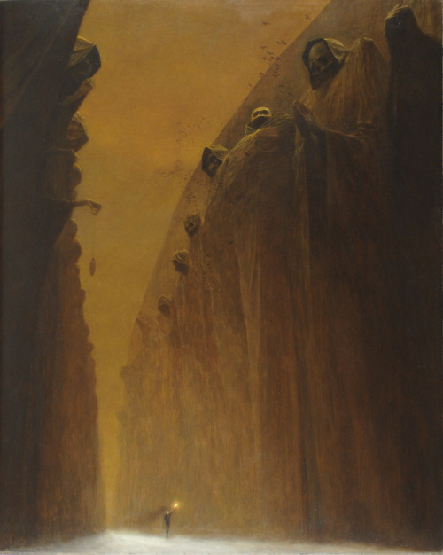 luzerna:  robotverve:  mmm beksinski. making this a beksinski masterpost           beksinski is my favourite