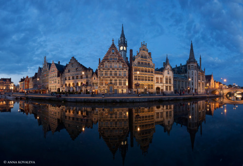 Ghent by night by Anna Kovaleva