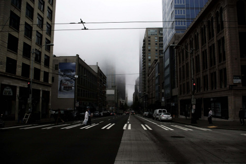 Taken in Seattle early morning in the summer. 4th ave.