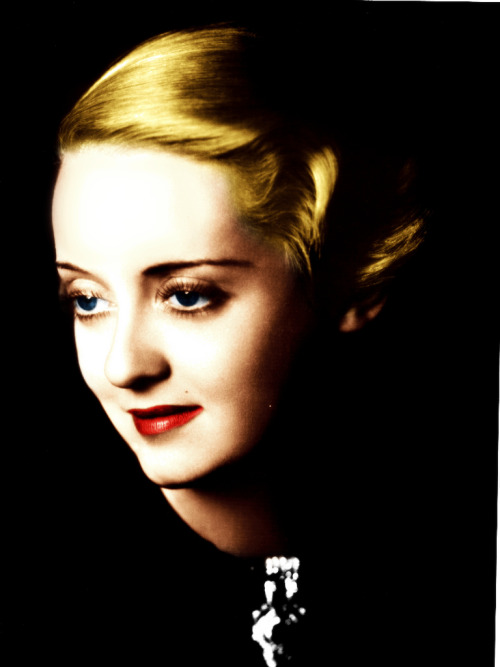 Bette Davis. (My colorization.)