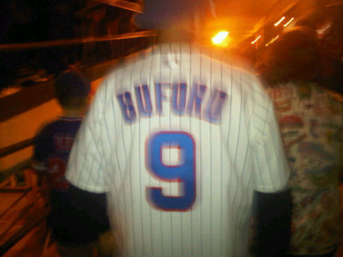 Damon Buford, Chicago Cubs:  Buford was a legit five-tool player: He could play baseball, be from Baltimore, and be born in 1970. Also, he owned a hammer and a crescent  wrench.  (Found by Steven.)