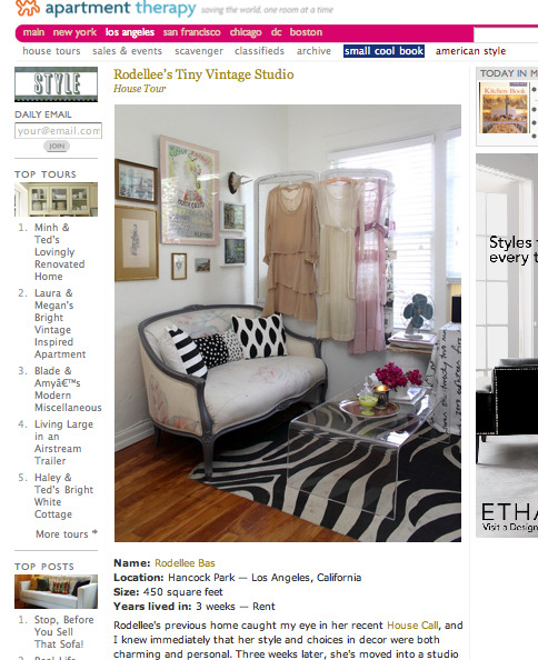 Rodellee's incredible vintage home on Apartment Therapy today!