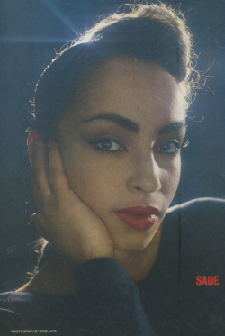 homonoire:  Sade Adu is everything.