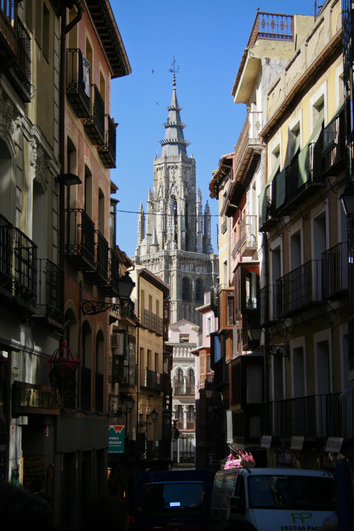 Tower of the Cathedral of Toledo, Toledo, Spain. 4 largest Church in The world