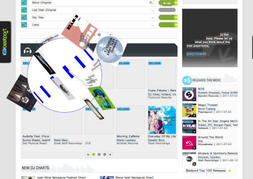 kryptoniterazor:  The new beatport layout is no match for my Katamari skills.