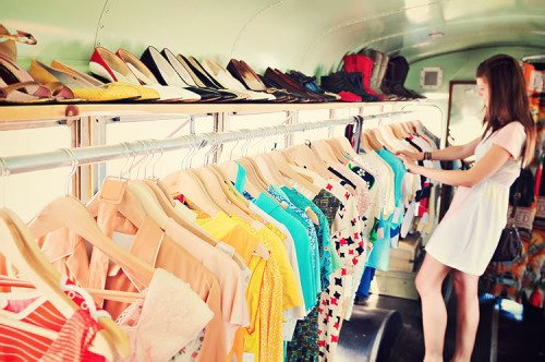 The Vintage Mobile - a school bus full of vintage clothing! That's a movement I can get behind!