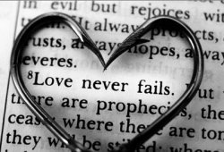 caughtupinsomebusyday:  Love never fails