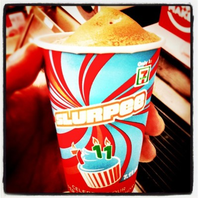 Ofcoarse it had to be #freeslurpee day today. @7eleven (Taken with Instagram at 7-Eleven)
