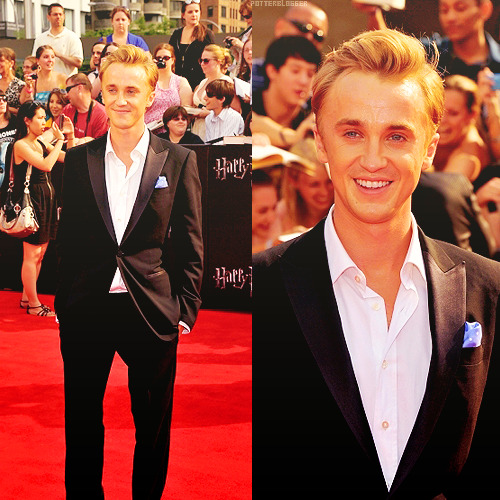 evannalynch:  Tom Felton at the DH Part II NYC Premiere