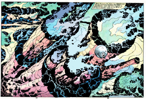 "From Jack Kirby's 2001: A Space Odyssey adaptation. Look at that page, and if you do not stare into it while mumbling ""Fuuuuuuck,"" there is nothing I can do to help you enjoy rad shit."